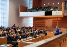 Verabschiedung von Landesbediensteten in den Ruhestand durch Landeshauptfrau Johanna Mikl-Leitner.