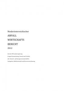 Abfallwirtschaftsbericht 2012