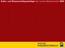 Kultur- und WissenschaftspreisträgerInnen des Landes Niederösterreich 2009