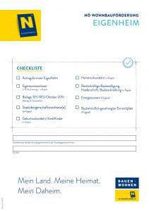 Wohnbauförderung Eigenheim Antragsmappe NEU - ab 01.10.2019