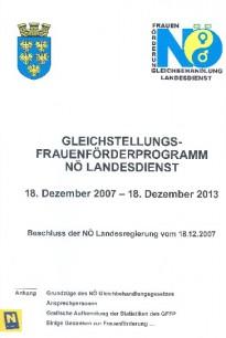 Gleichstellungs- Frauenförderprogramm NÖ Landesdienst 2007 - 2013 Broschüre